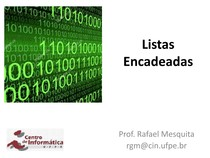 Algoritmos e Estrutura de Dados - 1 listas encadeadas