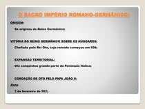 O SACRO IMPÉRIO ROMANO-GERMÂNICO