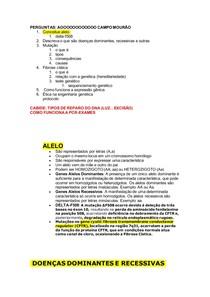 SP2 Genética DOENÇAS DOMINANTES E RECESSIVAS