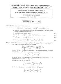 gabarito cálculo 3 - 1°EE - 2012.2