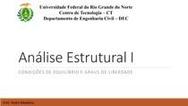 Análise Estrutural: Condições de Equilíbrio e Grau de Liberdade