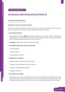 Espécies de contratos administrativos - Resumo