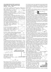 Lista de exercícios Física 1 - UFRGS