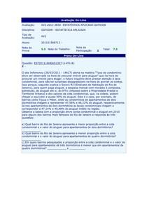 Avaliação On line Av2Estatistica