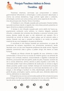 Principais Parasitoses intestinais de Animais Domésticos (1)