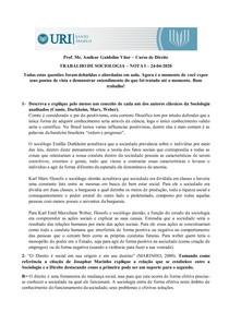 Trabalho de Sociologia aula 24 04 2020 Academica Bruna Barbosa
