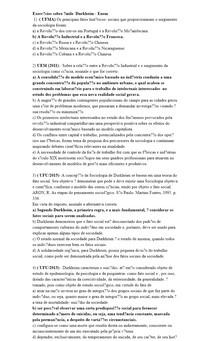 Exercícios sobre Émile Durkheim - Enem