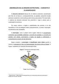 Amarração na Alvenaria Estrutural - Conceito e Classificação