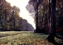 The Road To Chailly-Claude Monet