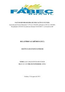 Relatorio TCC 2013