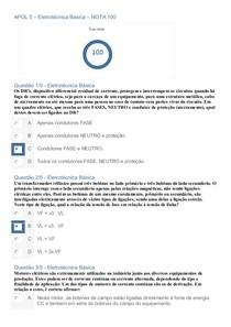 Eletrotécnica Básica - APOL 5 / NOTA 100