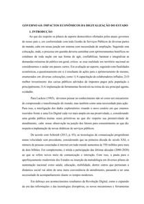TCC I - GOVERNO 4 0