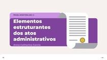 Elementos estruturantes dos atos administrativos