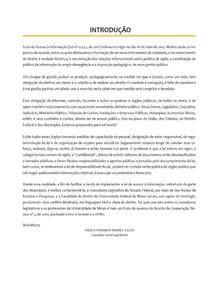 Lei de Acesso a Informacao (parceria Senado - UFMG)