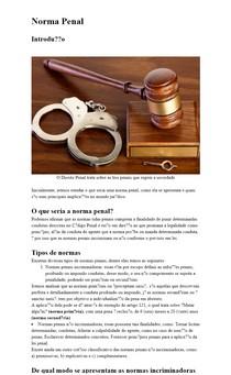 Norma Penal