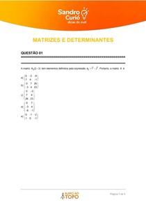 QUESTÕES NÉCTAR - MATRIZES E DETERMINANTES 1 - 02 2021