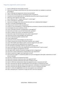 Perguntas e respostas sangramento uterino anormal (SUA)