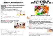 Folheto alimentação crianças menores de 2 anos