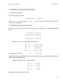 Sistemas de Equações Lineares (Mara Freire)