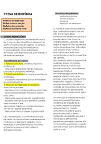 PROVA DE BIOFÍSICA - BIOFÍSICA DOS SISTEMAS