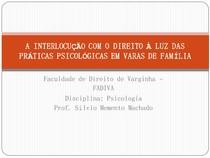Direito e Psicologia nas Varas de Família