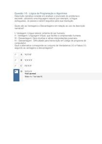 Apol 1 Lógica de Programação e Algoritmos