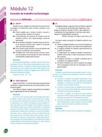 09 - Exercícios / Conceito de trabalho na Sociologia