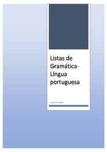 Listas de Gramática- Língua Portuguesa