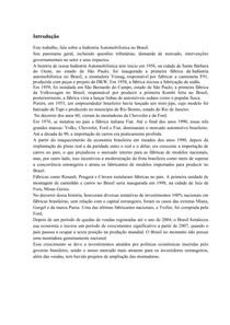 Indústria Automobilistíca no Brasil (Com Conclusão)