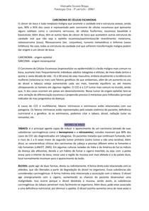 Carcinoma de Células Escamosas - Câncer de Boca