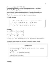 Séries-Texto 03 Séries Alternadas e mais alguns Critérios de Convergencia