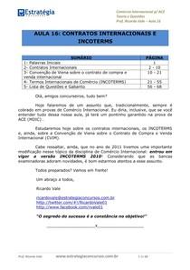 aula16 contratosinternacionaiseincoterms Concurso de Analista do Comércio Exterior