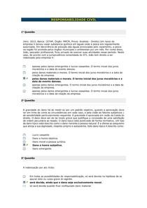 RESPONSABILIDADE CIVIL - Aula 04 II