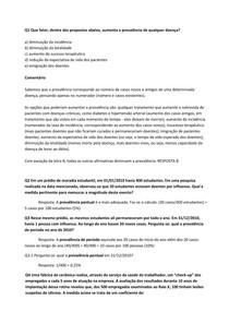 Exercícios Comentados de Epidemiologia (Profa. Carla Jorge - epidemiologiaprofessoracarla.blogspot.com/)