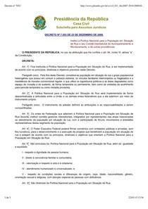 Decreto n ¦ 7053 Pol+¡tica Nacional PopRua