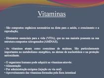 [Bioquímica] Aula de Vitaminas Lipossoluveis