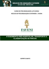 Atendimento Pré hospitalar transporte e classificação de riscos