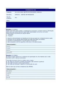 Gestao de Processos AV1
