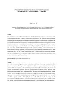 Análise metalográfica - Determinação do tipo de aço ao carbono