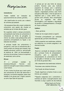 Bioquímica- conceitos iniciais