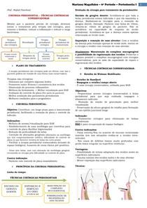 Periodontia - Técnicas Cirúrgicas Conservadoras
