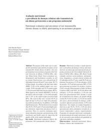 Avaliacao nutricional prevalencia doencas idosos pal