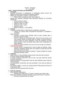 Resumo de Ortopedia - A1 - FCMSJF