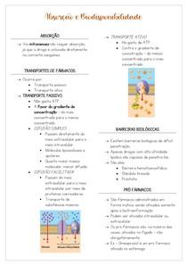 Absorção e Biodisponibilidade - FARMACOLOGIA