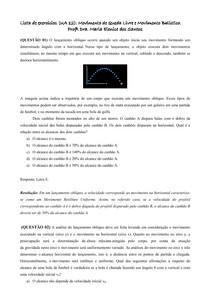 Lista UA 12_Movimento de Queda Livre e Movimento Balístico