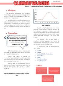 Aula 03 - Conteúdo Online - Elementos climáticos - Temperatura e Meio ambiente