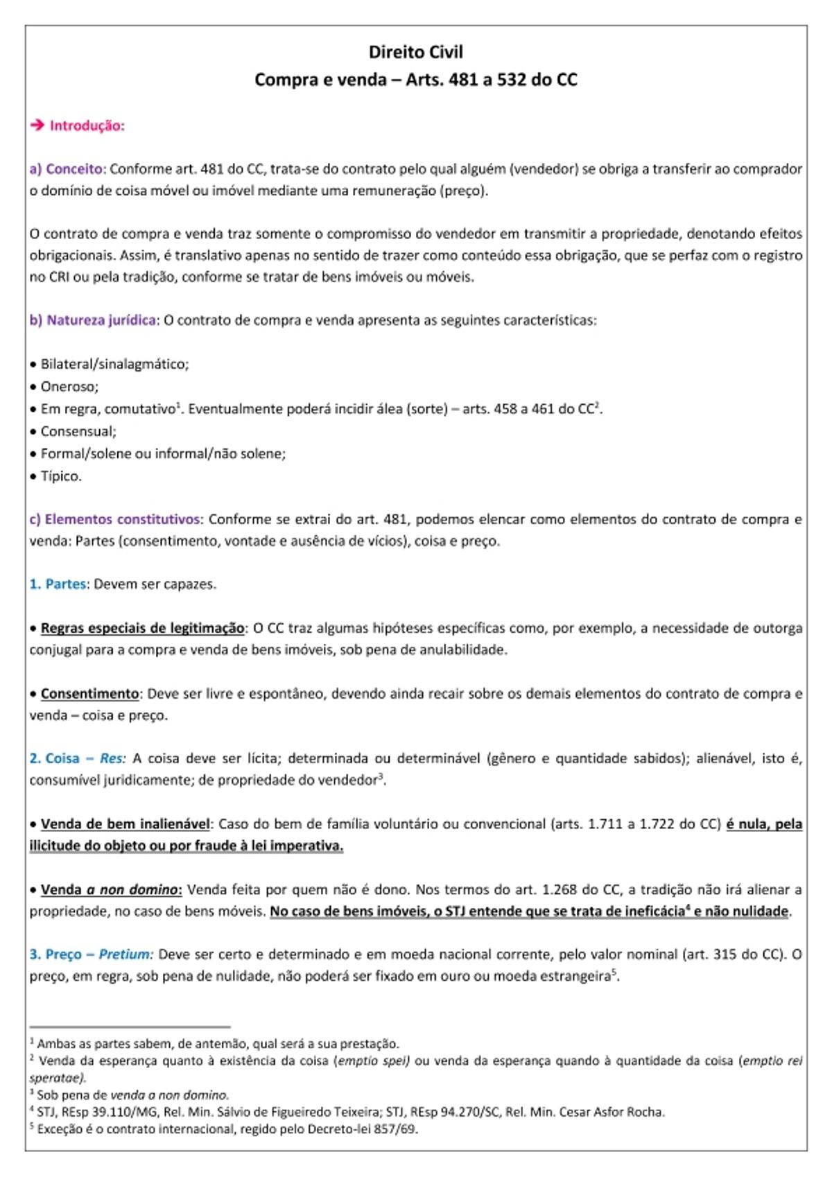 Pre-visualização do material CONTRATO DE COMPRA E VENDA - página 1
