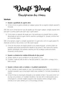 Direito Penal - Classificação dos crimes