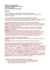 lista de perguntas (inflamação aguda e crônica)