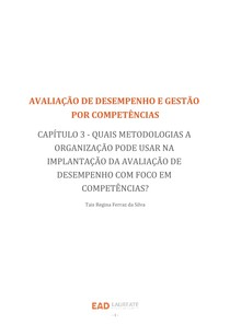 AVALIAÇÃO DE DESEMPENHO  METODOLOGIAS NA IMPLANTAÇÃO